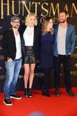 Cedric Nicolas-troyan, Charlize Theron, Emily Blunt and Chris Hemsworth