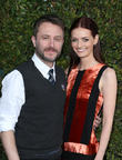 Chris Hardwick and Lydia Hearst at Universal Studios Hollywood