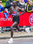 Eliud Kipchoge and Elite Men's Winner Of The London Marathon 2016