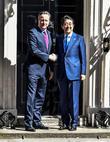 David Cameron and Prime Minister Shinzo Abe