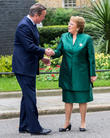 Uk Prime Minister, David Cameron, President Of Chile and Michelle Bachelet