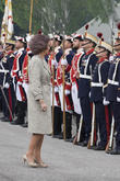 Guards and Queen Sofia Of Spain