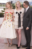 Bella Heathcote, Elle Fanning and Nicolas Winding Refn