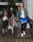 Zoe Ball, Nelly May Lois Cook and Woody Fred Cook