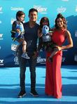 Mario Lopez, Courtney Laine Mazza, Dominic Lopez and Gia Francesca Lopez