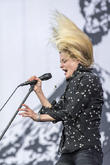 Alison Mosshart and Guest at Isle Of Wight Festival