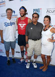 Will Ferrell, Clayton Kershaw, Dennis Gilbert and Ellen Kershaw