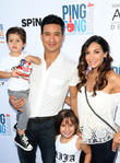Mario Lopez, Dominic Lopez, Gia Francesca Lopez, Courtney Mazza and Courtney Lopez