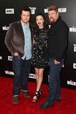 Josh Mcdermitt, Christian Serratos and Michael Cudlitz