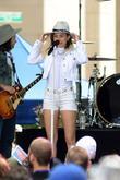 Miley Cyrus at Rockefeller Plaza