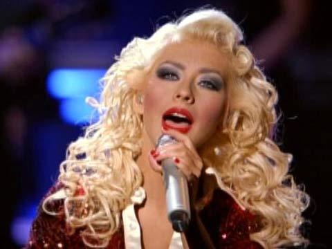 Christina Aguilera dazzled