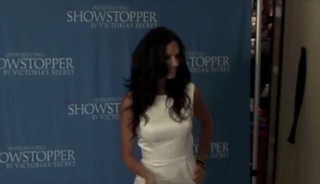 Adriana Lima shows off Victoria's Secret underwear in New York