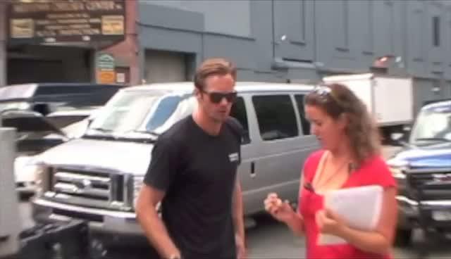 """True Blood star Alexander Skarsgard filming on the set of """"What Maisie Knew"""" in Manhattan"""