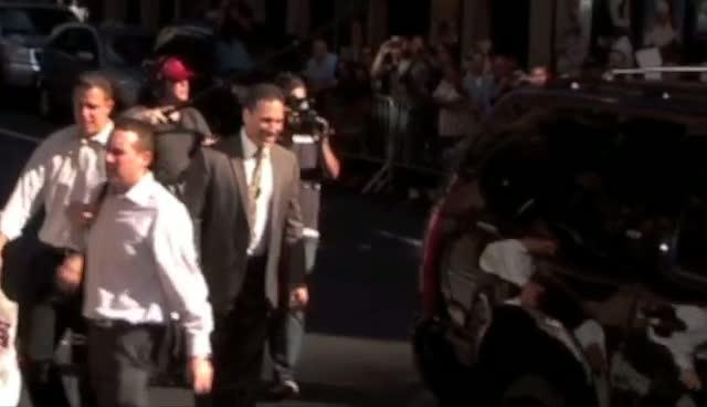 Joe Namath arrives at 'The Late Show'