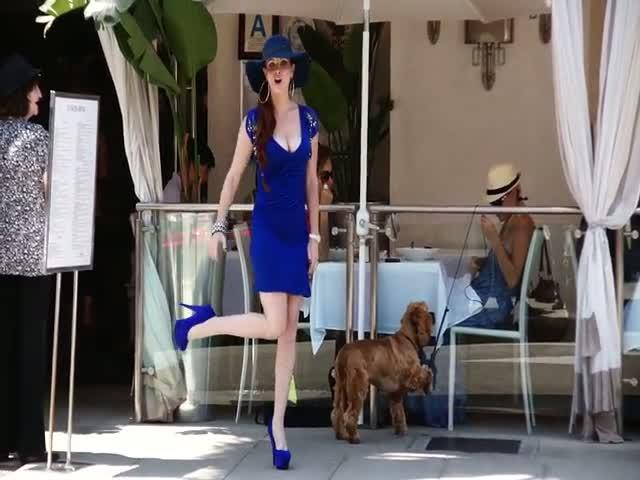Phoebe Price Strikes A Pose Outside Villa Blanca