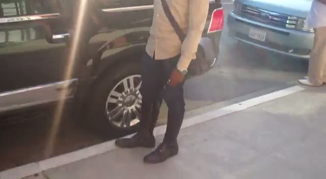 Raphael Saadiq Leaves Medical Building in Beverly Hills