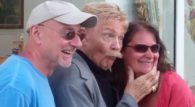 Rip Taylor Fools Around With Fans In Beverly Hills