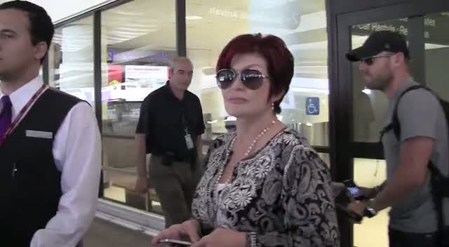 Sharon Osbourne at LAX Airport