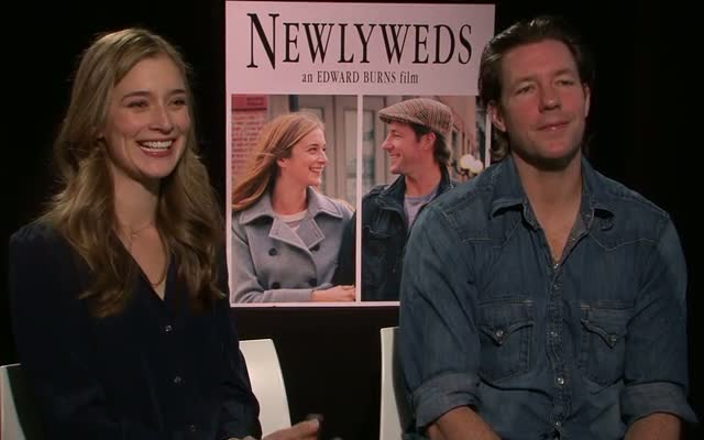 Ed Burns And Caitlin Fitzgerald Filmed On Location In Tribeca