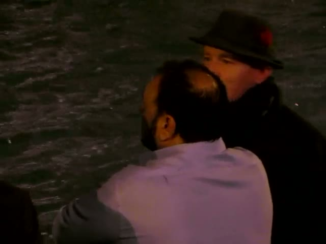 Guy Ritchie Deep In Conversation By The Trevi Fountain