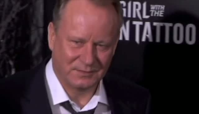 Stellan Skarsgard Accompanied On Red Carpet By Wife - The Girl With The Dragon Tattoo New York Premiere Arrivals Part 1