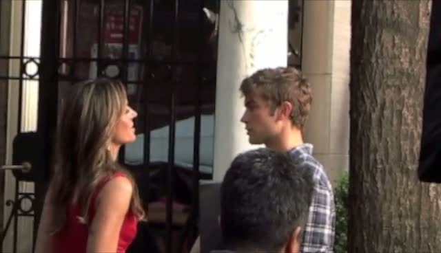 Elizabeth Hurley and Chase Crawford filming for Gossip Girl - Part 3