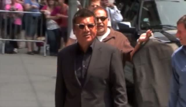 George Lopez arriving at The Late Show with David Letterman