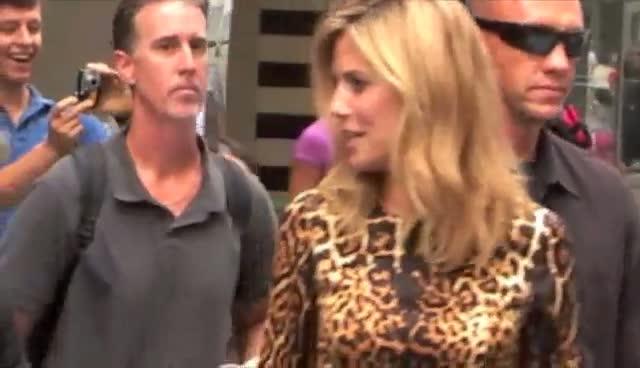 Heidi Klum Rocks Leopard Print Dress In New York City