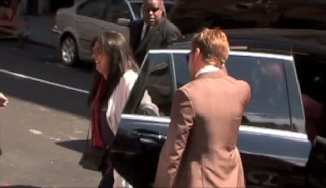 Ryan Gosling arriving at the Ed Sullivan theatre for The Late Show with David Letterman