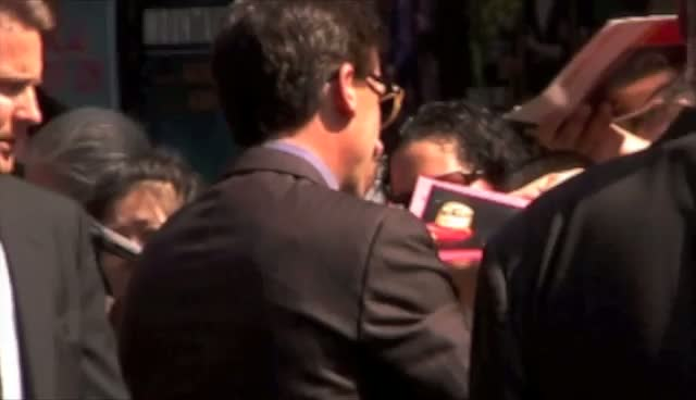 Steve Carell Signs Autographs on Arrival at the Ed Sullivan Theatre for 'The Late Show with David Letterman'