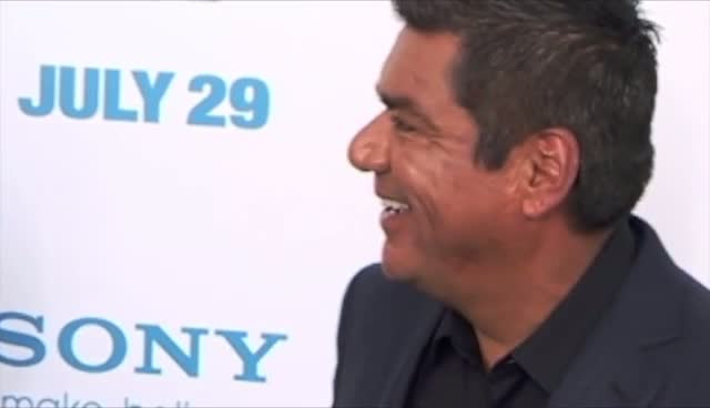 George Lopez And Daughter Attend 'The Smurfs' Premiere