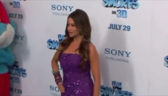 Sofia Vergara Dazzles At 'The Smurfs' Premiere