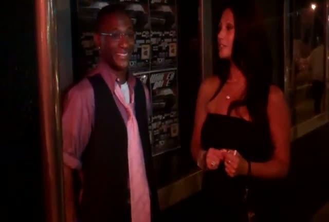 Tommy Davidson outside the Roxy on Sunset Blvd