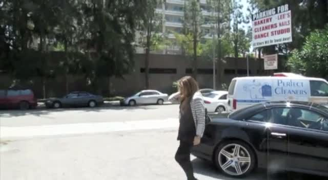 Carmen Electra arrives to rehearse for a Pussycat Dolls show