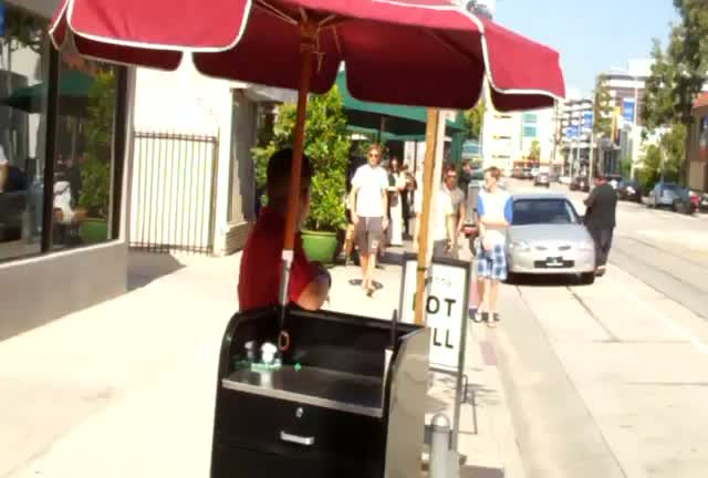 Jenson Button leaving Urth cafe in West Hollywood with friends
