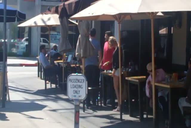 Jerry Ferrara leaving eating lunch at Toast