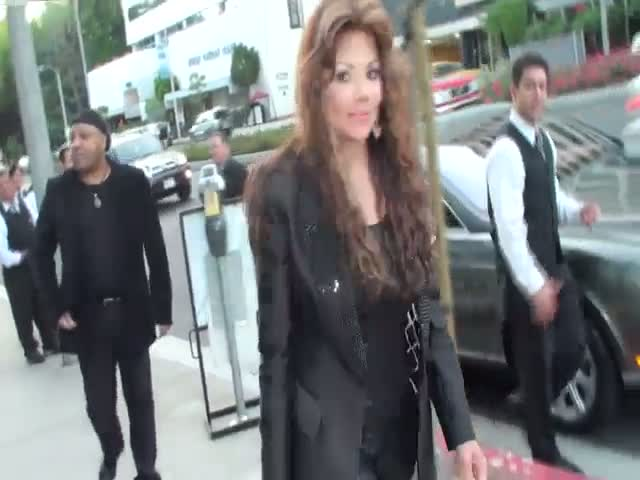 La Toya Jackson arriving at BOA...
