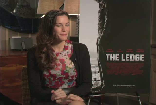 "Liv Tyler chats about her new movie ""The Ledge"" during a press junket at the Crosby Hotel"