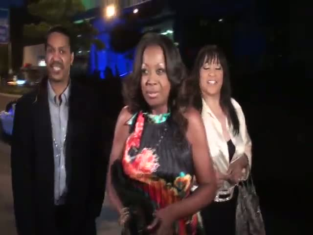 Star Jones and a friend arriving...