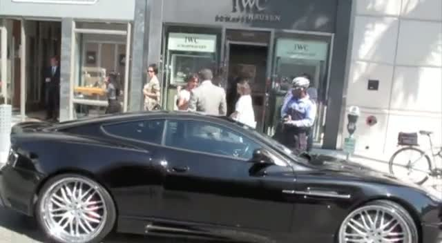 Sylvester Stallone gets a parking ticket in Beverly Hills