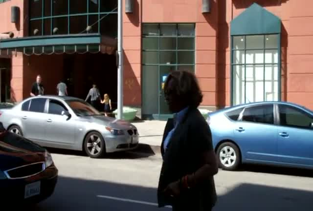 Diahann Carroll outside a medical building