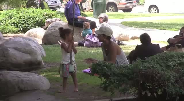 Halle Berry takes her daughter Nahla to play in Coldwater Park