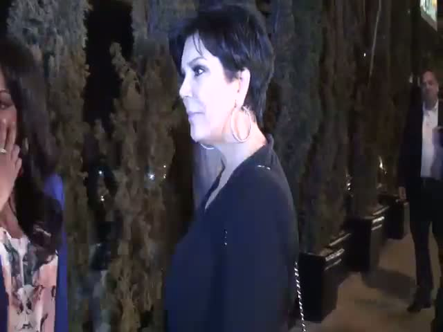Kris Jenner leaving Trousdale nightclub after attending a party for her daughter Kim Kardashian