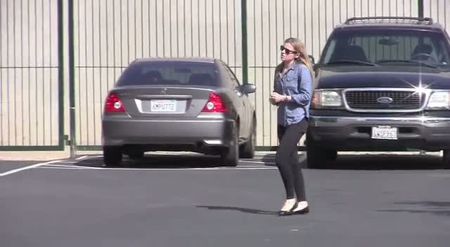 Lindsay Lohan leaves a Downtown Women's Center in Los Angeles after serving her first day of court-ordered community service