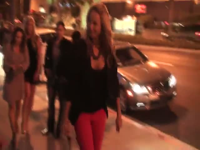 Stacy Keibler arriving at Boa Steakhouse