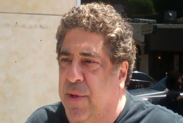 "Vincent Pastore talking about his new show ""Famous Food"""