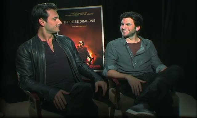 "Wes Bentley and Rodrigo Santoro at a press junket for their new movie ""There Be Dragons"" at the Regency Hotel"