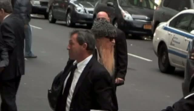 Billy Gibbons Gives The Thumbs Up To Photographers Outside David Letterman