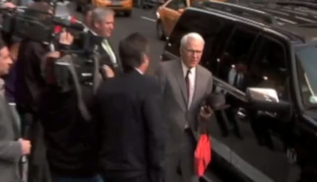 Steve Martin arriving for 'The Late Show with David Letterman' at the Ed Sullivan Theater