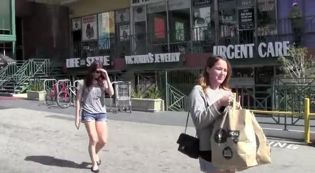 Ashley Greene Looking Summery Wearing Cutoff Denim Shorts